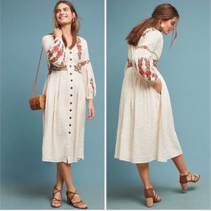 Anthropologie Maeve Gracie Maxi Dress 6 NEW Boho